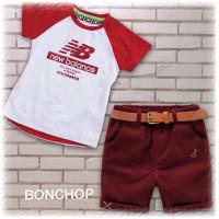 Deal sốc-Set áo New Balance kèm quần Kaki cho bé trai MSP A057