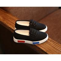 Giày slip-ons bé trai và bé gái X-255 đen