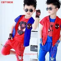 Bộ sét ba món người nhện cực ngầy cho bé trai từ 1-8 tuổi_CBT19838