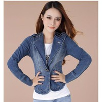 Áo khoác vest jean