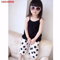 Bộ áo dây quần bi ống suông dễ thương cho bé gái TH07156