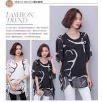 Hàng nhập cao cấp -áo voan lụa phom rộng Hông Kong -4586