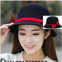Nón mũ rộng vành NỈ FEDORA Hàn Quốc mới chống tia UV K78218