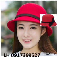 Nón mũ rộng vành NỈ FEDORA Hàn Quốc mới chống tia UV L128218