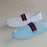 Giày lười vải bố
