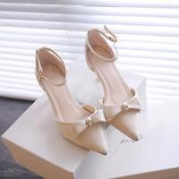 Giày cao gót 5 phân nơ xinh - hàng đẹp