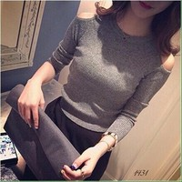 Hàng loại 1: áo len dệt kim khoét vai 2016