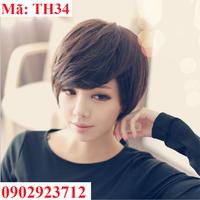 Tóc Giả Nữ Hàn Quốc Tặng Lưới - TH34