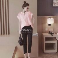 Hàng loại 1-set bộ quần lửng áo phom rộng-4620