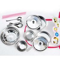 Bộ đồ chơi nấu ăn inox Thiên Lộc an toàn cho bé