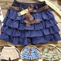 Quần short váy thời trang mỏng với các lớp cung vành ngắn -127