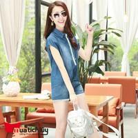 MTL - Bộ đồ short jean form rộng