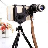 Bộ lens ZOOM 8X kèm chân chụp hình cho điện thoại