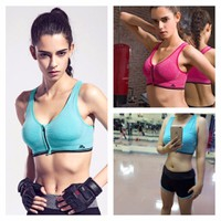 TT 26 - Bộ quần áo thể thao nữ dây kéo tập Gym Yoga Aerobic