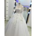 áo cưới tay dài ren hoa văn112