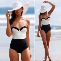 Bikini một mảnh phối màu trẻ trung kiểu Hàn Quốc-DB066