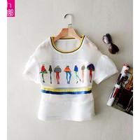 áo lưới nữ dạo phố Mã: AK1707