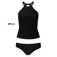 Bikini cao cấp cổ yếm phối ren lưới XA612996