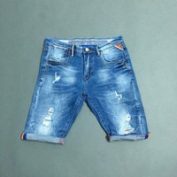 Quần short jean nam