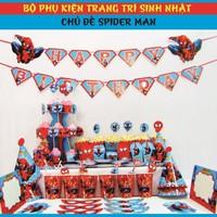 Bộ phụ kiện sinh nhật chủ đề Spiderman