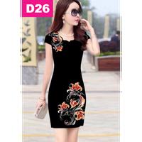 Đầm đẹp in hoa 3D sang trọng