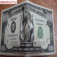Ví Da Nam Hình 1 Triệu USD Chính Hãng Da Loại 1 Cao Cấp - B21