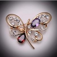 Cài áo nữ hình bướm gắn đá  - CA007