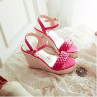 Giày đế xuồng tết sam thời trang - LN306