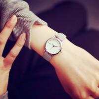 Đồng hồ nữ dây kim loại mỏng Hàn Quốc