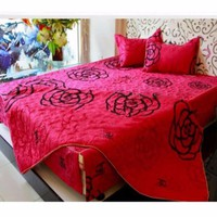 Bộ ga giường cotton Hình Chanel Tím
