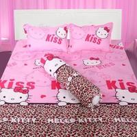 Bộ ga giường cotton kitty beo