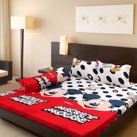 Bộ ga giường cotton Mickey Mouse