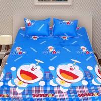 Bộ ga giường cotton Doremon chong chóng