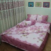 Bộ ga giường cotton Hoa Mai