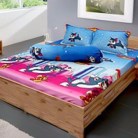 Bộ ga giường cotton Tom and Jerry