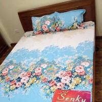Bộ ga giường cotton hoa dây