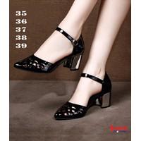 Giày đế vuông mũi nhọn cắt Laze -CG012