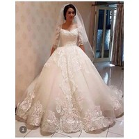 áo cưới trắng ren hoa