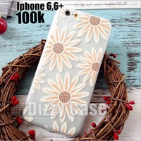 Ốp lưng iphone 6 plus dẻo hoa in nổi
