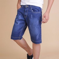 quần short jean nam thời trang