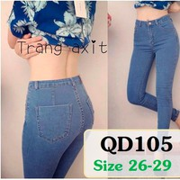 Quần jean lưng cao 1 nút QD105