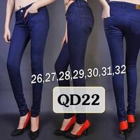 Quần jean lưng cao 1 nút QD22