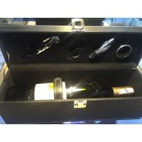 Bộ mở rượu vang hộp da kèm rượu