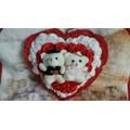 trái tim hoa gấu bông