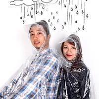 Áo mưa trong 2 đầu