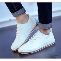 Giày nam oxford da cắt đế sọc màu trắng