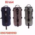 Balo Vải kết hợp túi xách hình trụ cao cấp - HA64