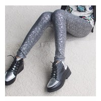 quần legging nữ cá tính Mã: QB468 - BẠC