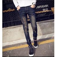 Quần jeans phong cách chắp vá
