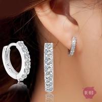 Bông tai bạc 925 nạm đá pha lê cao cấp - BH526